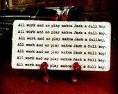 20% OFF The SHINING All Work And No Play Jack Torrence Novel Wall Plaque