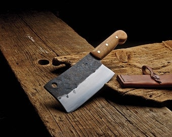Hand forged cleaver: Made to order