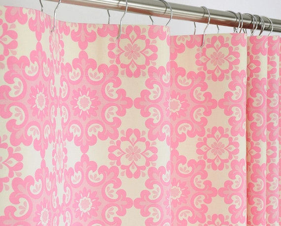 78 Long Pink Shower Curtain 72 X 78 Long Pink By Pondlilly