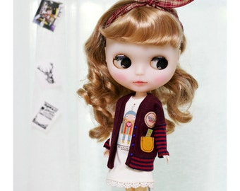 Robot Red SET - for Blythe, MocaPinoRu - doll outfit