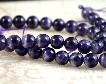 "Round Amethyst Quartz 10mm ,Natural Amethyst strand Loose Round Gemstone Beads Full One Strand 15.5"" , Charm Quartz Strand"
