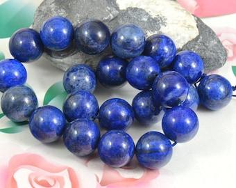 "Lapis Lazuli Beads Round Lapis 20mm 18mm 16mm 14mm 12mm 10mm 8mm 6mm 4mm stone gemstone bead Full One strand 16"""
