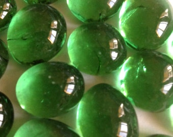 Mosaic Tiles 1lb Light Green Cathedral 14mm Glass Gems Jewelry Designer Art FREE SHIPPING