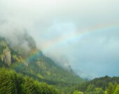 Mountain Photography Print 12x18 Fine Art Oregon Pacific Northwest Rainbow Forest Spring Landscape Photography Print.