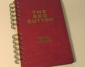 1912 THE RED BUTTON Handmade Journal Vintage Upcycled Book