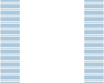 Blue #1 Frame for 5 x 7 Picture Cross Stitch Pattern