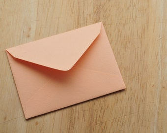 Peach Mini Envelopes // Set of 10 // Gift Card Envelope // Blank Cards // Enclosure Cards // Love Note // Keepsake Envelope // Advice Cards