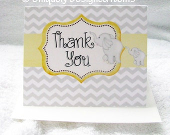 Baby Shower Thank You Cards, Custom Thank You Cards, Personalized Thank You cards, Baby Thank You- custom designs