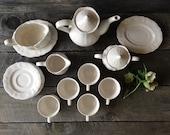 SALE Federalist Ironstone Collection - Tea Set