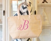 Monogrammed Bag, Custom Tote, Persoanlized Tote Bag, Purse,Burlap,Wedding bags, Bridesmaids,Accessory for Her,by Modern Vintage Market