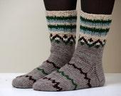 Size US W 8.5, EU 39 Hand knit wool socks