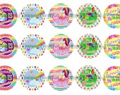 """1"""" Love Comes In Many Colors Bottle Cap Image Sheets Party Favors Cupcake Topper Magnet Stickers Printables Bottlecap Instant Download."""