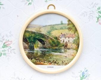 Exmoor Stone Bridge - Small Round Picture Frame