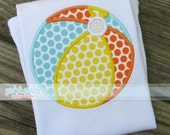 Beach Ball Appliqué Design Machine Embroidery INSTANT DOWNLOAD