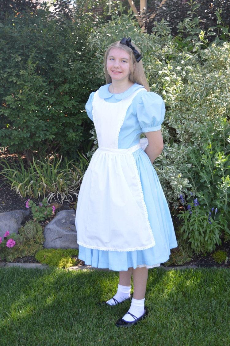 Adult Alice In Wonderland Costume Dress Woman S By Bitsnscraps