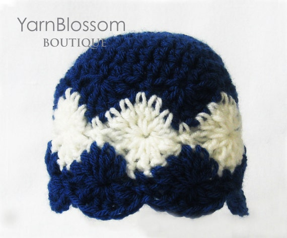 CROCHET PATTERN Starry Night Beanie (6 sizes included from newborn-adult) Instant Download