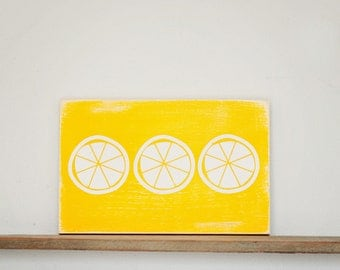 Summer Lemon Trio Sign