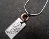 Mali Necklace ~ Small ~ Wing/ Ginkgo