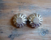 Vintage Jello Molds, Two Fluted AluminumTart Tins, Gelatin Molds