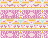 Aztec Minky Baby Blanket, Fitted Crib Sheet, Changing Pad Cover, Baby Girl Nursery Bedding, Mint Gold Pink, Anna Elise Tribal Study Jewel