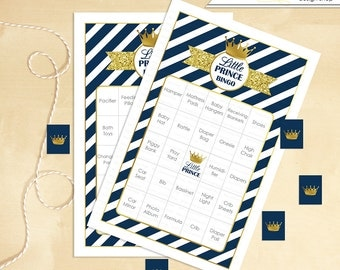 Baby Shower Bingo Includes 60 Little Prince Printable Bingo Cards - Instant Download