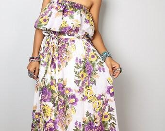 Floral Dress - Bohemian Summer Dress: Sunny Dreams Collection No.4