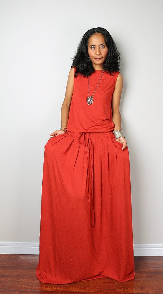 Orange maxi dress for wedding invitations