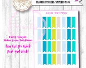 Stitched Flags for your Planner STICKERS | Fit the ECLP Planners | Fits All Planners | Kiss Cut for easy peel and stick