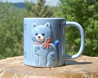 Otagiri Blue Cat Mug