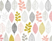 First Light - Leaf Sampler Pink by Eloise Renouf from Cloud9 Fabrics