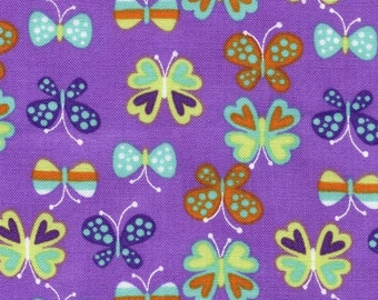 SALE - Purple Butterflies from Timeless Treasures