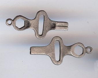 SKATE KEY Charm. Pewter With Antiqued Finish. 3D Skatekey. Made in the USA.