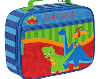 Personalized Lunch Box Bag Stephen Joseph Dino NEW