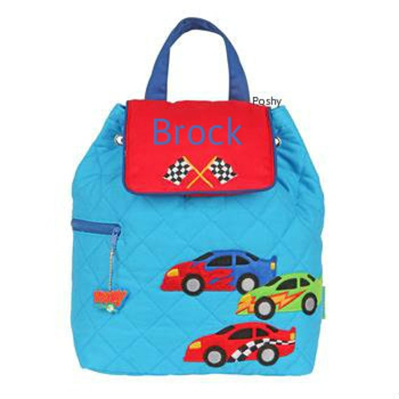 custom boy backpack or baby diaper bag stephen joseph quilted. Black Bedroom Furniture Sets. Home Design Ideas