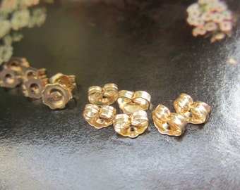 Gold Filled Butterfly Clutch Backs For Post Earrings 12Pcs.