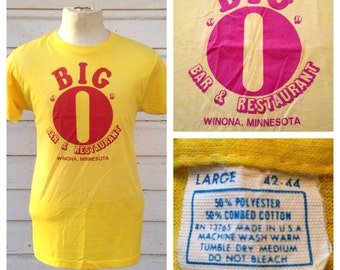 1980's BIG O bar - restaurant t-shirt, soft & thin, fits like a medium
