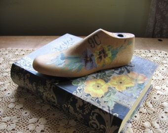 Hand Painted Childs Shoe Mold