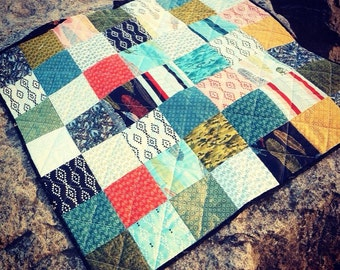 Tribal Baby Quilt// Boy's Baby Quilt//Modern//Aztec//Geometric//