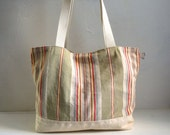 "Striped Ticking TOTE BAG "" California "", Special Listing for D..."
