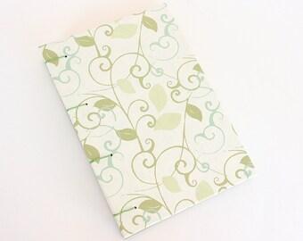 Handmade Journal - Green Leaves
