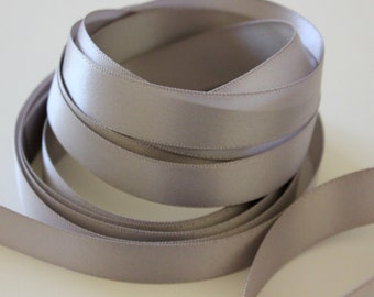 "5/8"" Double-Faced Satin Ribbon - Silver"