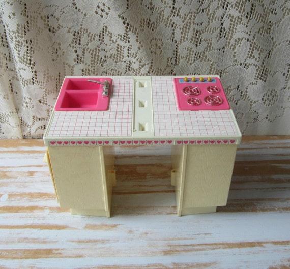 Items Similar To Barbie Dream Kitchen Partial Set Vintage