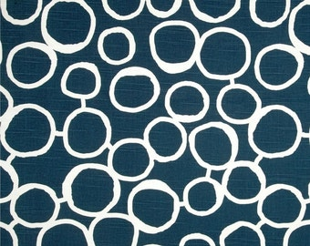 CLEARANCE Toss Pillows- PREMIER Navy Blue Freehand Pillow Cover- 16x16 inch Zippered Pillow- Modern Cushion Cover- Circles Artwork
