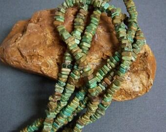 """Gorgeous Magnesite Beads, 16"""" full strand/Green-brown-blue magnesite small beads/Magnesite chips/Irregular shape beads"""