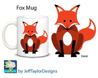 Sitting Red Fox Coffee Mug