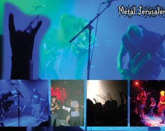 Metal Jerusalem Postcard