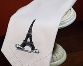 Eiffel Tower Cloth Napkins, french napkins, Eiffel tower napkins, eiffel tower gift, eiffel tower decor, french decor, french home accent