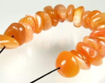 "Luscious Orange Carnelian Chips - Chip Length 14~17mm - Strand Length 12cm (4.7"") - B2838"