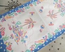C W Prismacolor Linen Kitchen Towel Southwestern Decor Decor Colorful Kitchen Towel Retro Towel Vintage Dish Towel Cactus