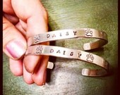 Pet Memorial Bracelet - Paw Prints, Hearts, Dog Bones - You Choose